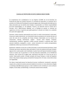 CLÁUSULA DE PROTECCIÓN DE DATOS COMPASS GROUP