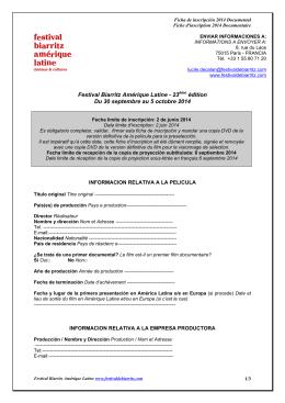 Festival Biarritz Amérique Latine - 23ème édition Du 30 septembre