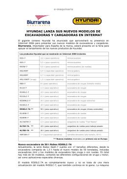 HYUNDAI lanza sus nuevos modelos de excavadoras y cargadoras