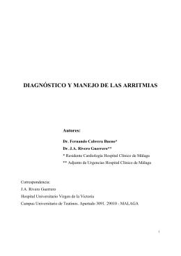 DIAGNÓSTICO Y MANEJO DE LAS ARRITMIAS