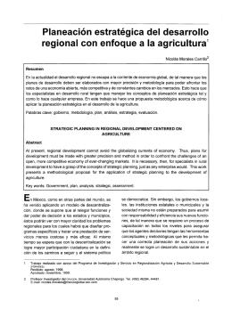 Planeación estratégica del desarrollo regional con enfoque a la