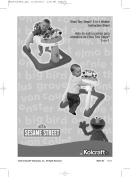 Hoja de instrucciones para andadera de Elmo Tiny Steps