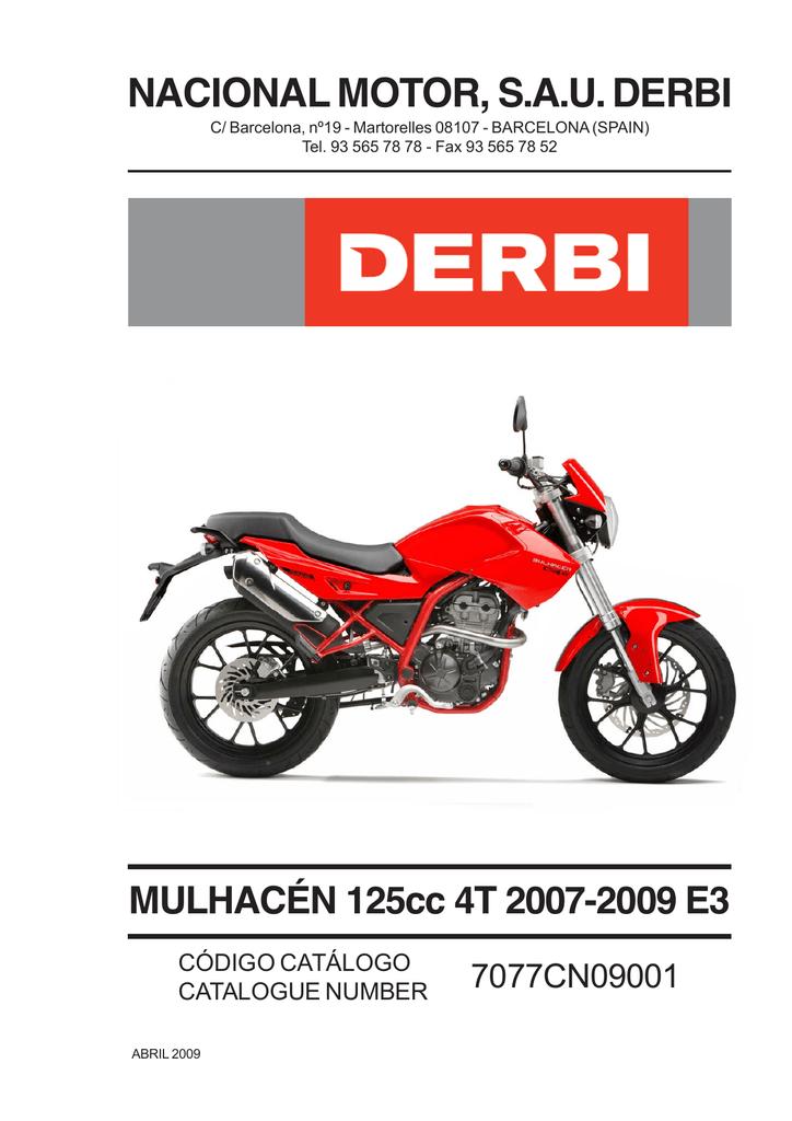 01 mulhac n 125cc 4t 07 09 for Catalogo derbi