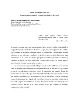 Tepito: del estigma al arte acá. Promotores culturales y la (re