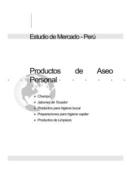 Estudio de Mercado Productos de Aseo Personal
