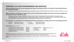 FEBRUARY 2012 DISH PROGRAMMING AND SERVICES