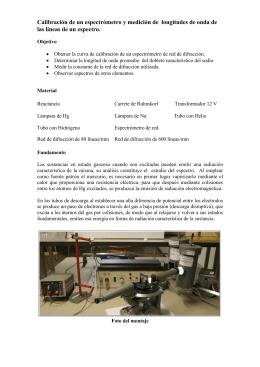 Calibración de un espectrómetro y medición de