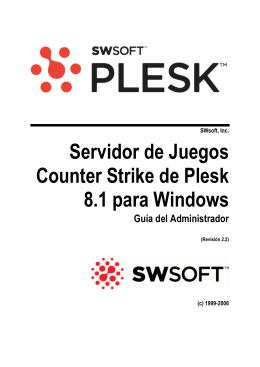 Servidor de Juegos Counter Strike de Plesk 8.1 para