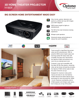 3D HOME THEATER PROJECTOR H180X