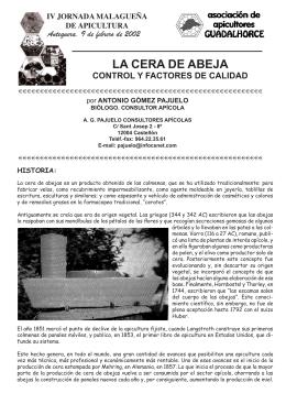 LA CERA DE ABEJA - Asociación Malagueña de Apicultores