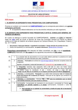 Solicitud de larga Estancia - Embajada de Francia en México