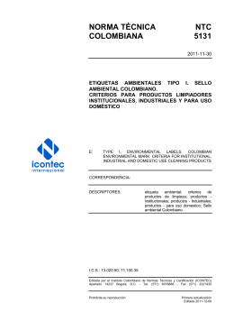 NORMA TÉCNICA NTC COLOMBIANA 5131