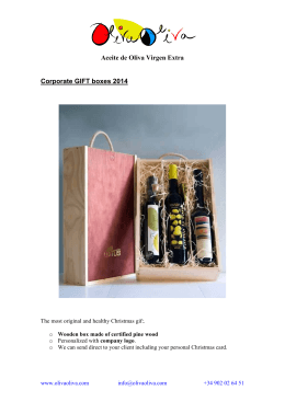 Aceite de Oliva Virgen Extra Corporate GIFT boxes 2014