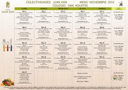 menú mensual - Colegio San Agustín