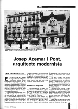 Josep Azemar i Pont, arquitecte modernista