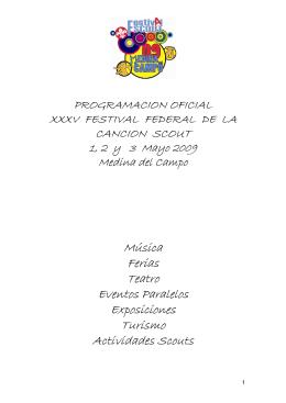 Programa oficial.