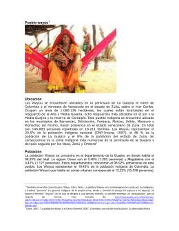 población Wayuú - Ministerio del Interior
