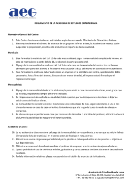 Academia de Estudios Guadarrama REGLAMENTO