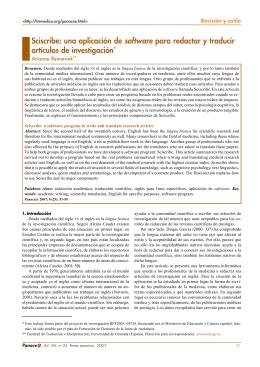 Sciscribe: una aplicación de software para redactar y traducir