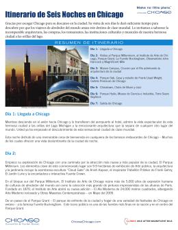 Itinerario de Seis Noches en Chicago
