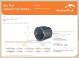 Wire Rod General Characteristics