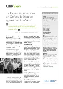 La toma de decisiones en Coface Ibérica se agiliza con QlikView