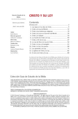 Cristo y Su Ley II Trimestre 2014