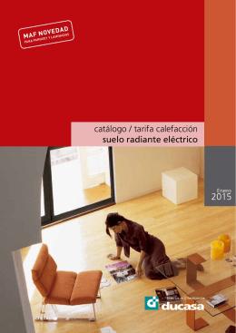 catálogo / tarifa calefacción suelo radiante eléctrico