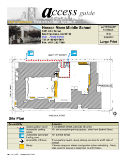 Horace Mann Middle School Site Plan
