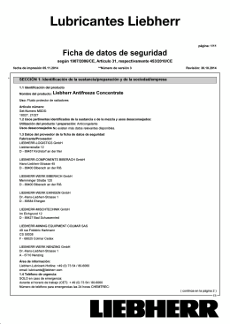 Hoja de datos seguridad Liebherr Antifreeze Concentrate