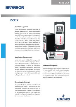 Generadores Branson DCX S