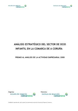 análisis estratégico del sector de ocio infantil en la comarca de a
