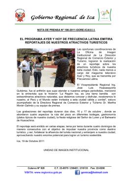 el programa ayer y hoy de frecuencia latina emitira reportajes de