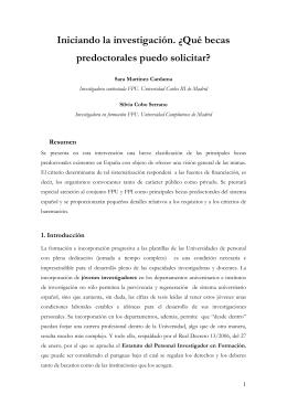Becas predoctorales FPU y FPI - Facultad de Ciencias de la