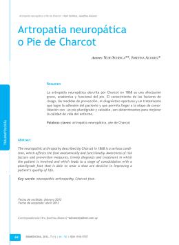 artropatía neuropática o Pie de Charcot