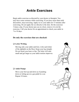 Ankle Exercises - Spanish - Health Information Translations