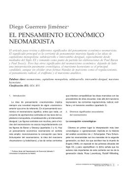EL PENSAMIENTO ECONÓMICO NEOMARXISTA