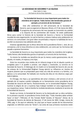 LA SOCIEDAD DE SOCORRO Y LA IGLESIA