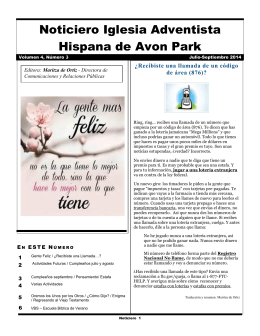 Noticiero Iglesia Adventista Hispana de Avon Park