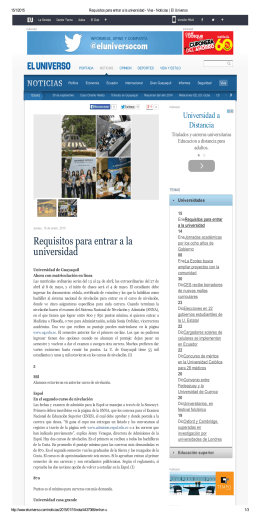 Requisitos para entrar a la universidad
