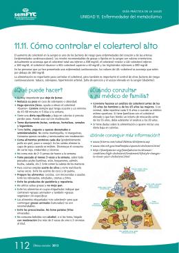 11.11. Cómo controlar el colesterol alto