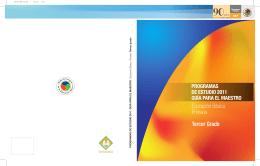 programa de Tercer grado - Subsecretaría de Educación Básica