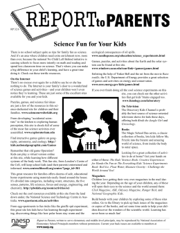 Science Fun for Your Kids