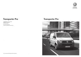 Transporter Pro Transporter Pro - Volkswagen Vehículos Comerciales