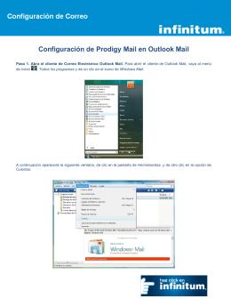 Configuración de Prodigy Mail en Outlook Mail