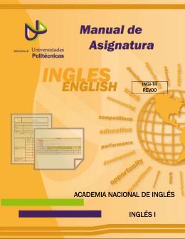 ACADEMIA NACIONAL DE INGLÉS INGLÉS I