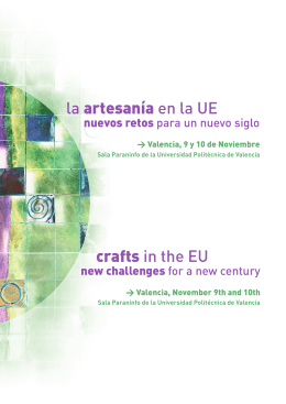 crafts in the EU la artesanía en la UE