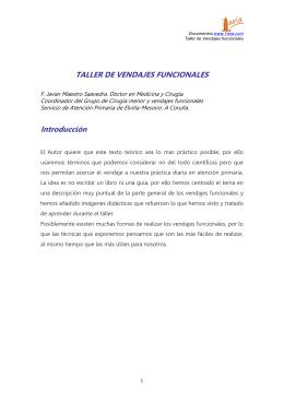 TALLER DE VENDAJES FUNCIONALES Introducción