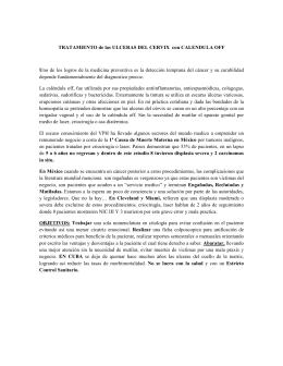 TRATAMIENTO de las ULCERAS DEL CERVIX con CALENDULA OFF
