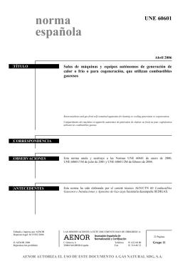 UNE 60601 norma española - TEMARIOS FORMATIVOS